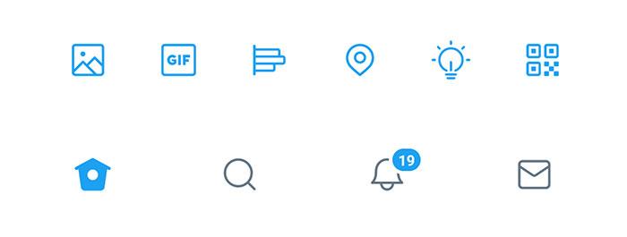 Иконки Twitter